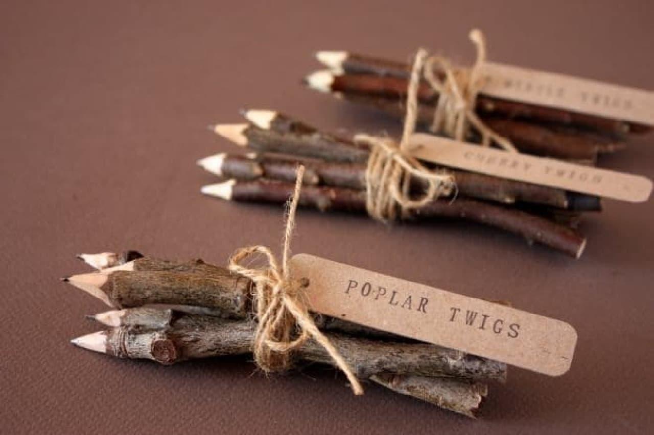 タスマニア島の木の枝で作った鉛筆「Twig Pencils」