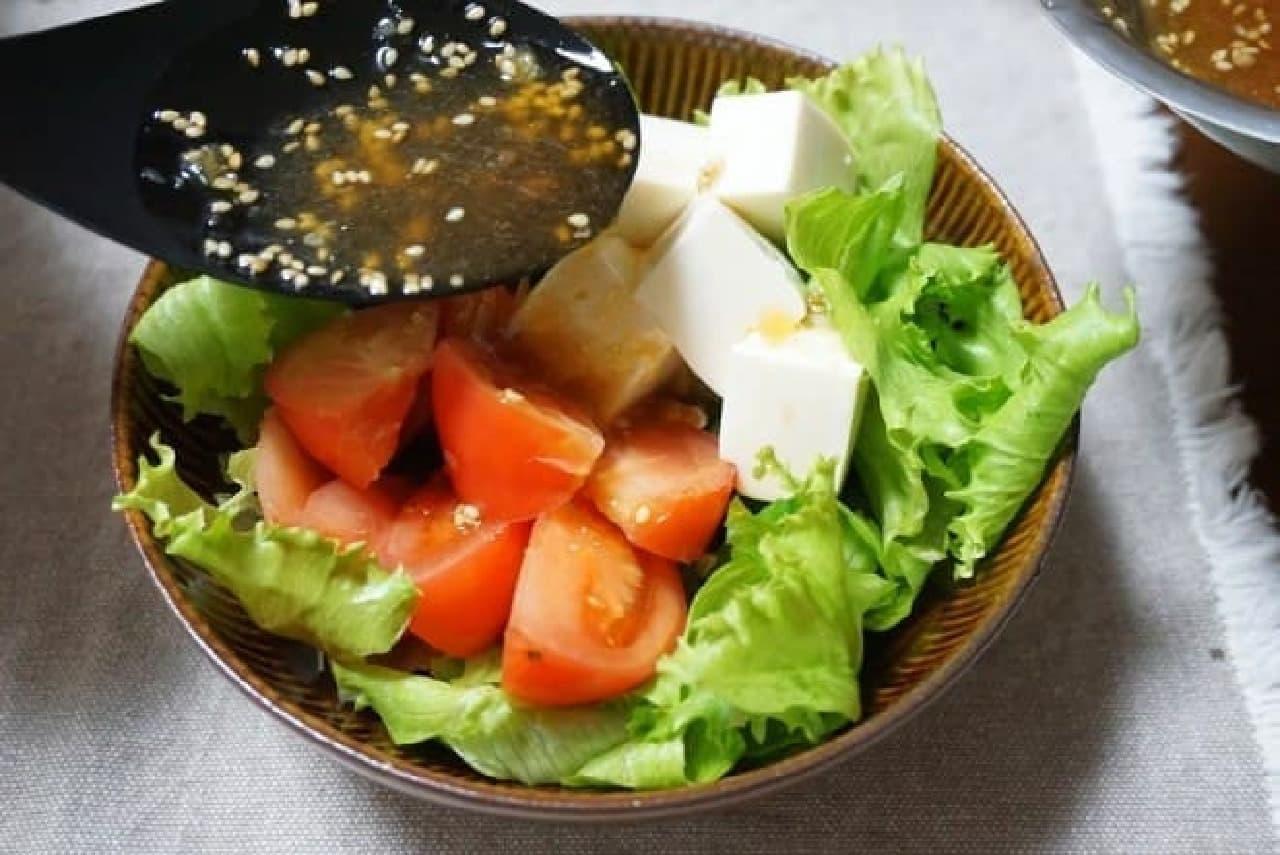 中華風だし醤油ドレッシングサラダ