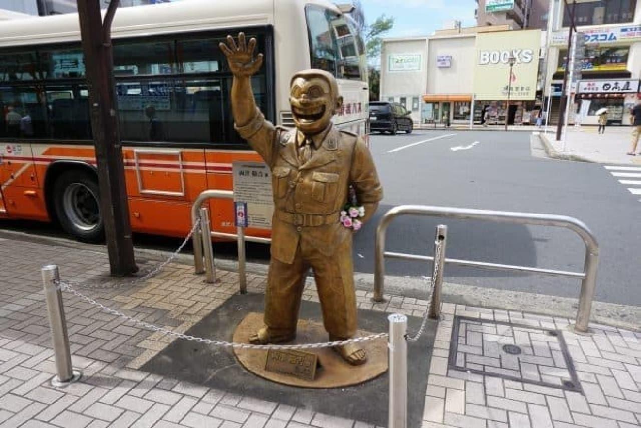 こち亀 両津勘吉の銅像