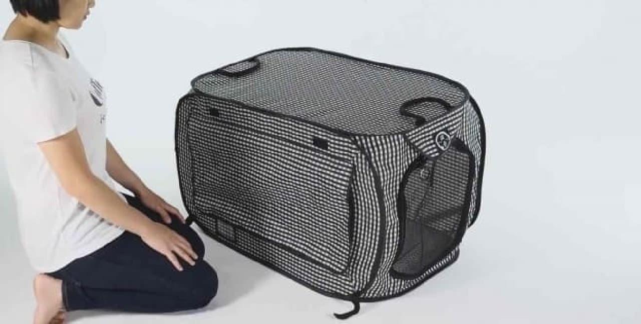 「猫壱 ポータブル ケージ」がマイナーチェンジ!…ネコの脱走を防ぐロックを標準装備