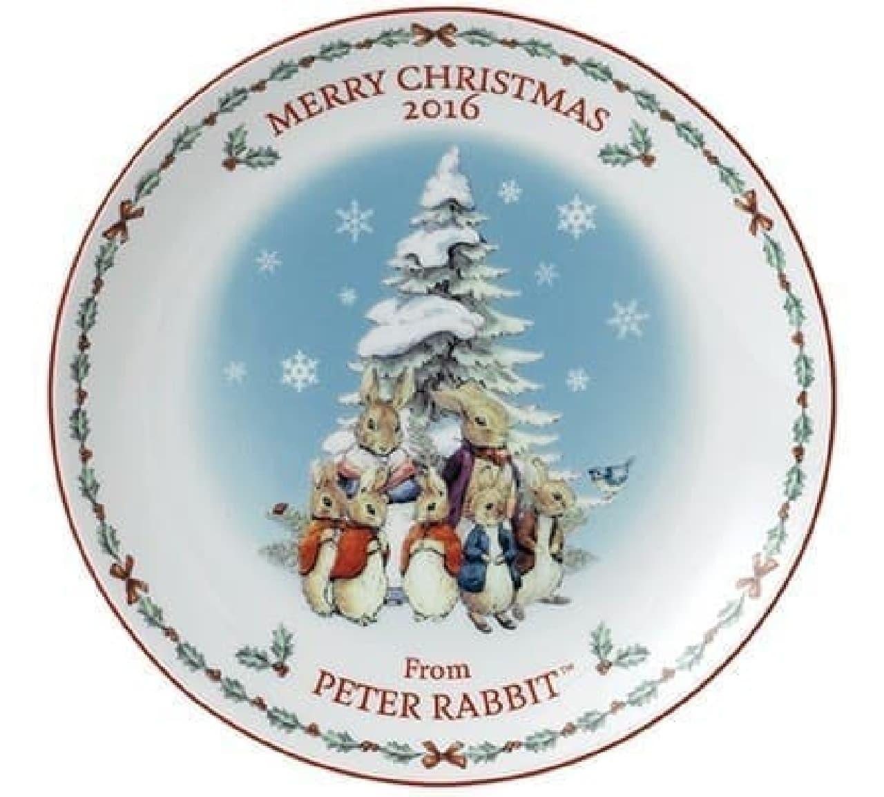 ピーターラビット「クリスマスプレート 2016」