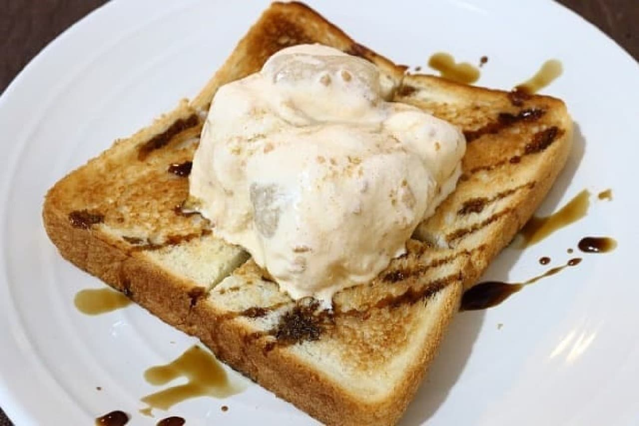 桔梗信玄餅とアイスのトースト