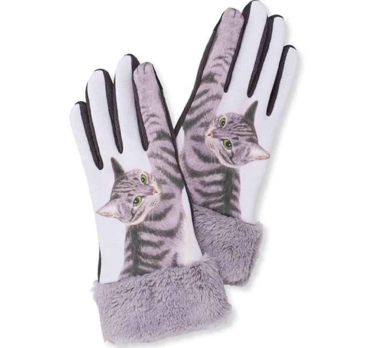 スマートフォン対応 猫パンチ手袋