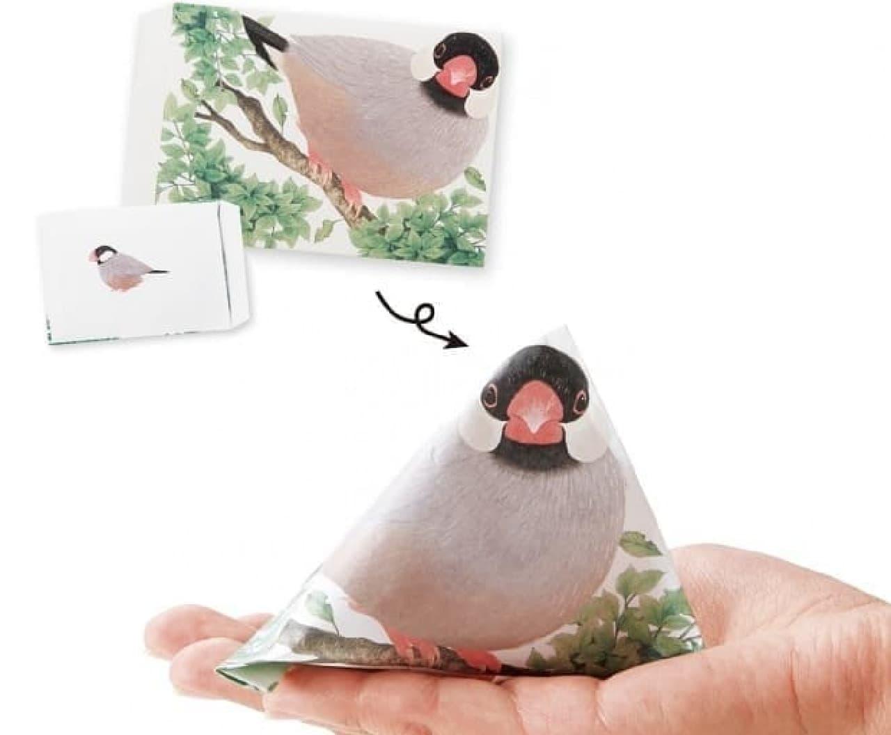 「手乗り文鳥のテトラぽち袋」、「YOU+MORE!」から販売開始