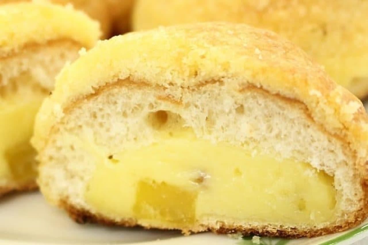 クリームパンで作るメロンパン
