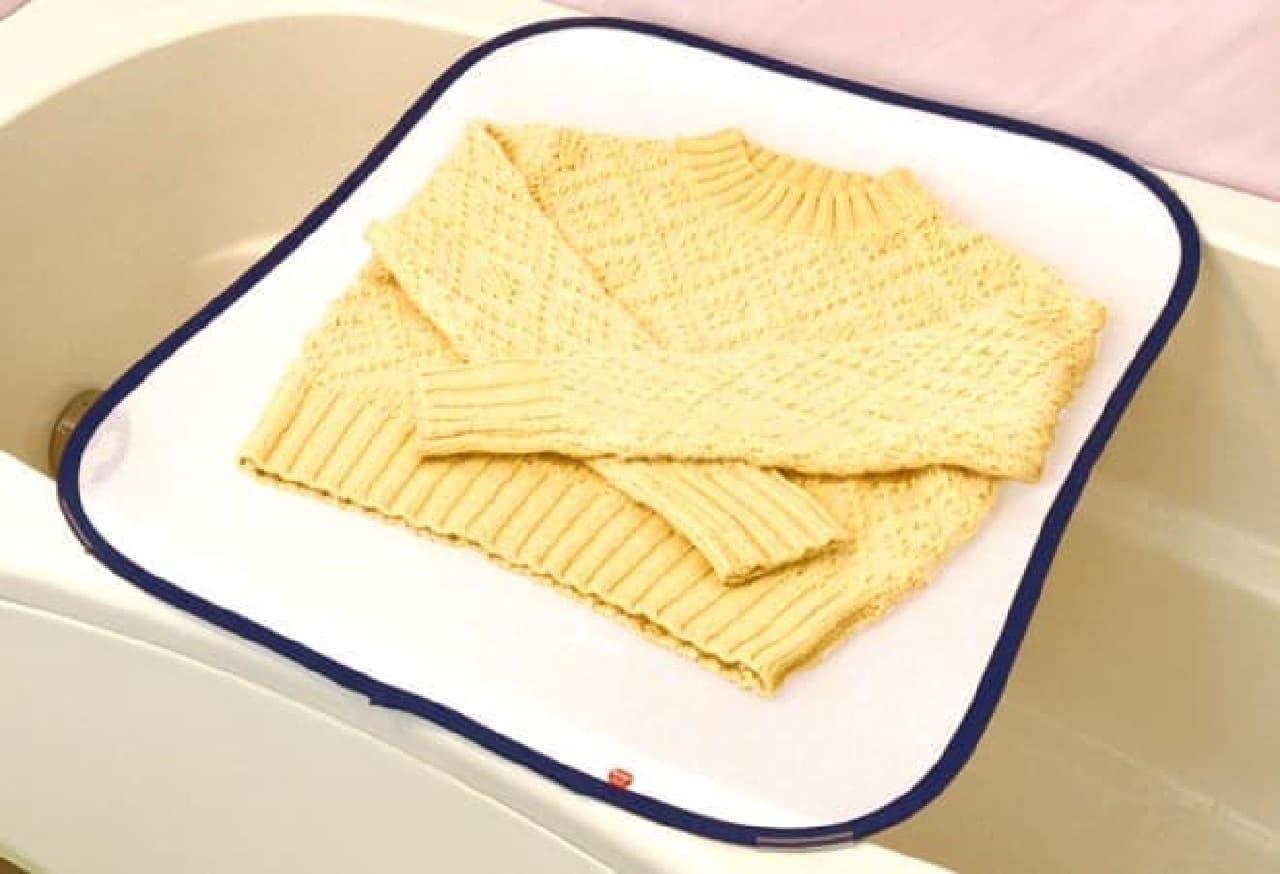 衣類乾燥用ネット「ダイヤ お風呂で平干しネット」