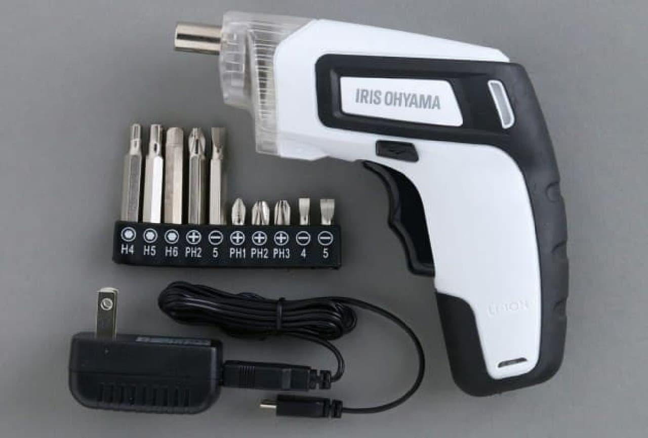 アイリスオーヤマ充電式電動ドライバー