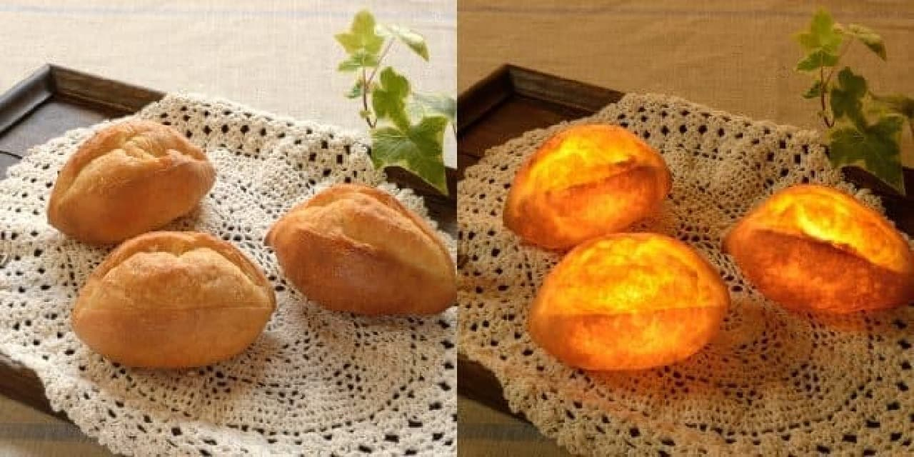 本物のパンでできた「パンプシェード」