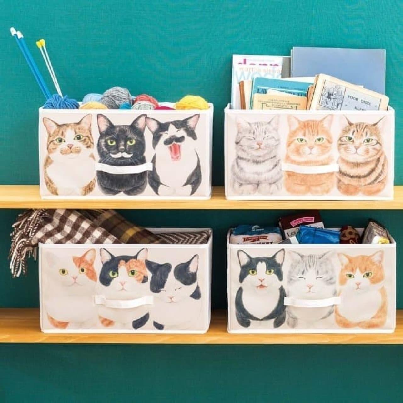 「香箱座り猫の収納ボックス」、フェリシモYOU+MORE!から