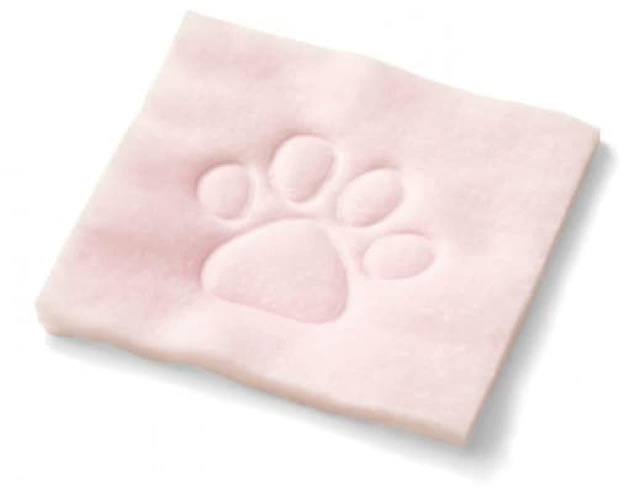 猫にふんでもらう心地のスキンケア ふみふみ肉球コットン