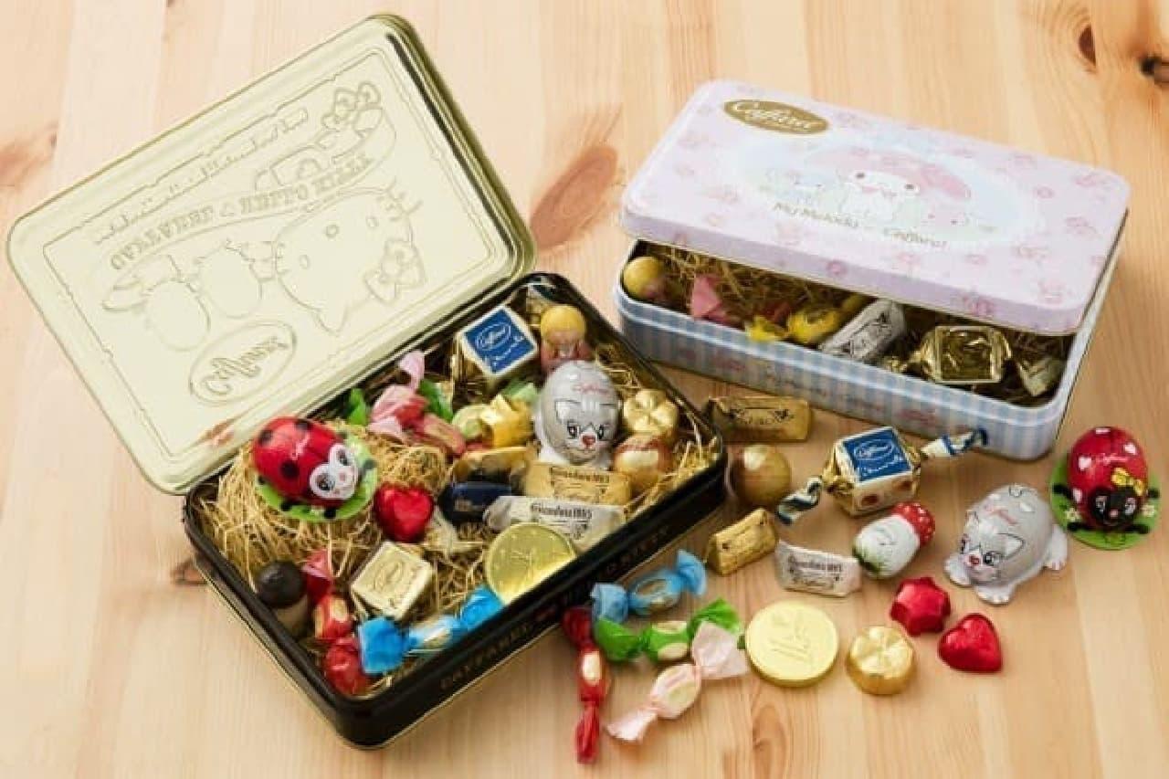 サンリオと『カファレル』のコラボチョコレート