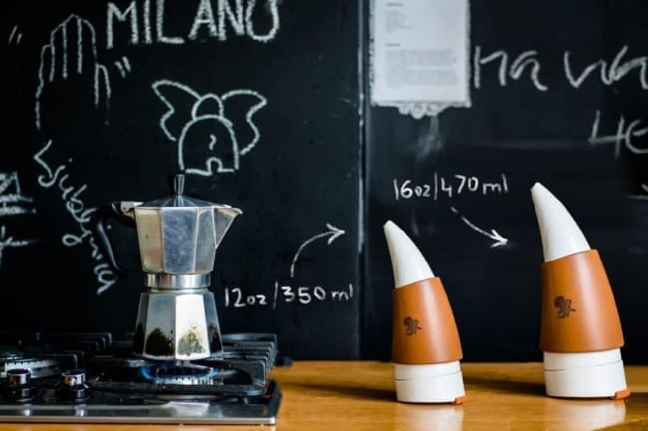 ヤギの角の形をしたコーヒータンブラー「GOAT STORY ゴートマグ」