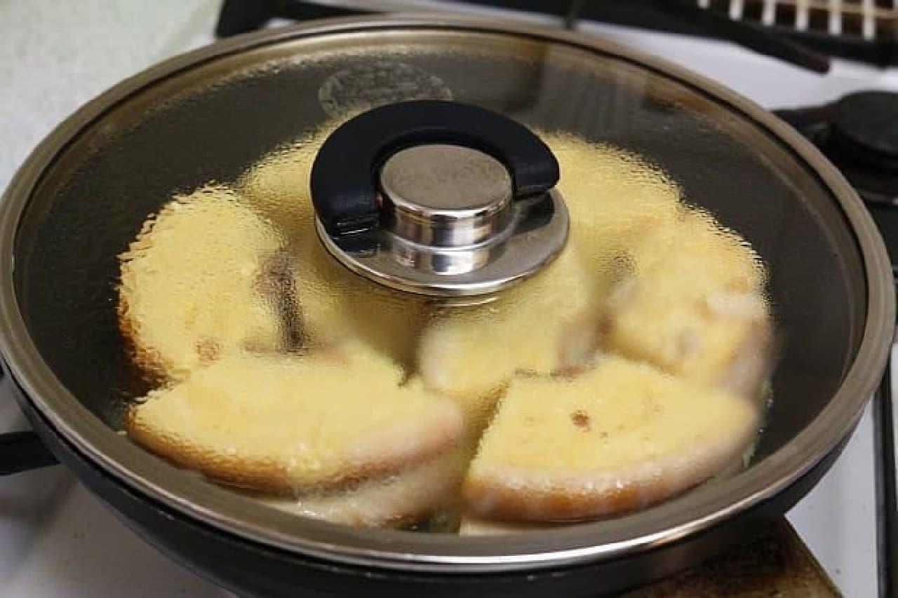 バウムクーヘンを使ったフレンチトーストのレシピ