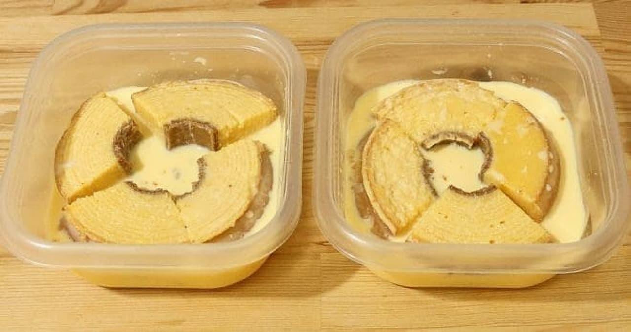 バウムクーヘンのフレンチトースト