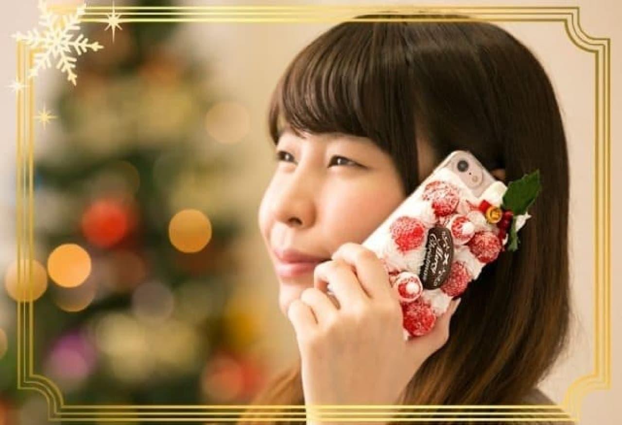 Hamee「iPhone 7専用 食品サンプルカバー(クリスマスケーキ)」