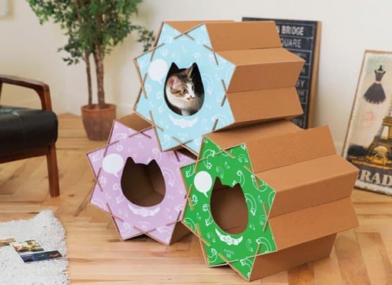 こんぺいとう型のキャットハウス「猫屋 こんぺいとう」