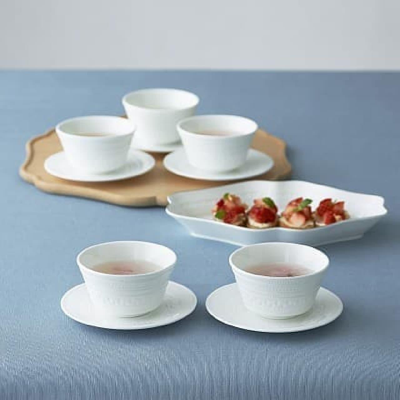 ウェッジウッド「豆皿・湯呑茶碗セット」
