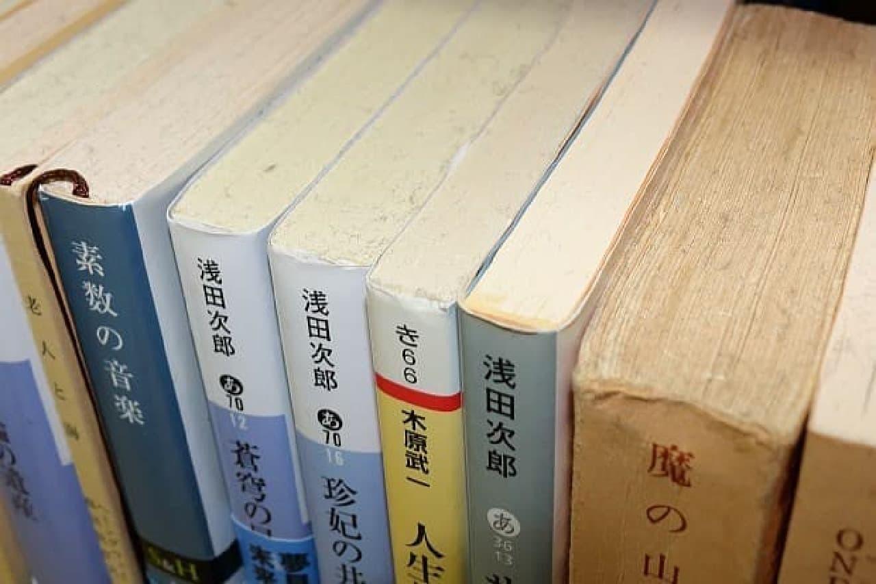 本棚に収められた本