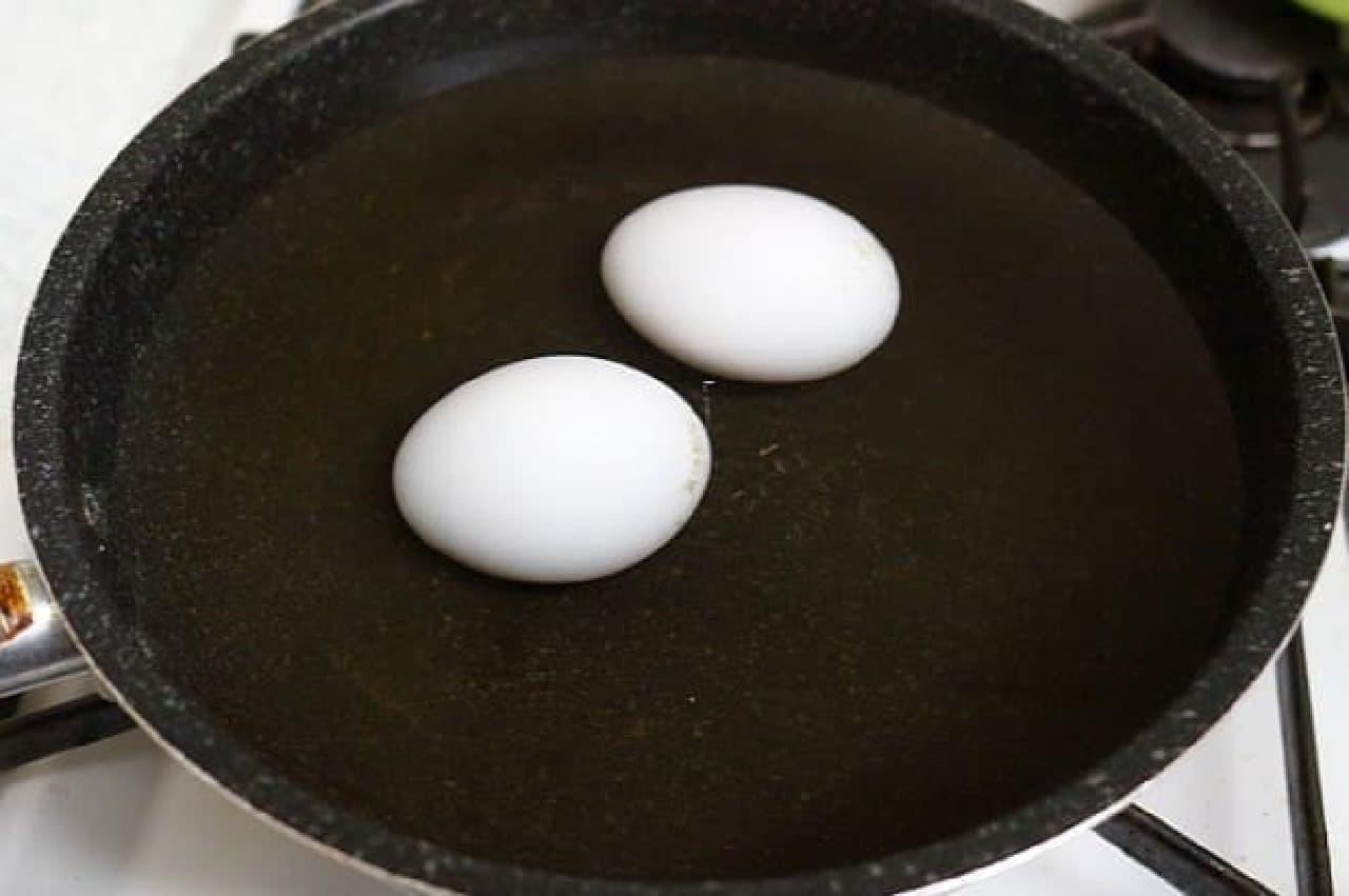 殻がキレイにむけるゆで卵の作り方