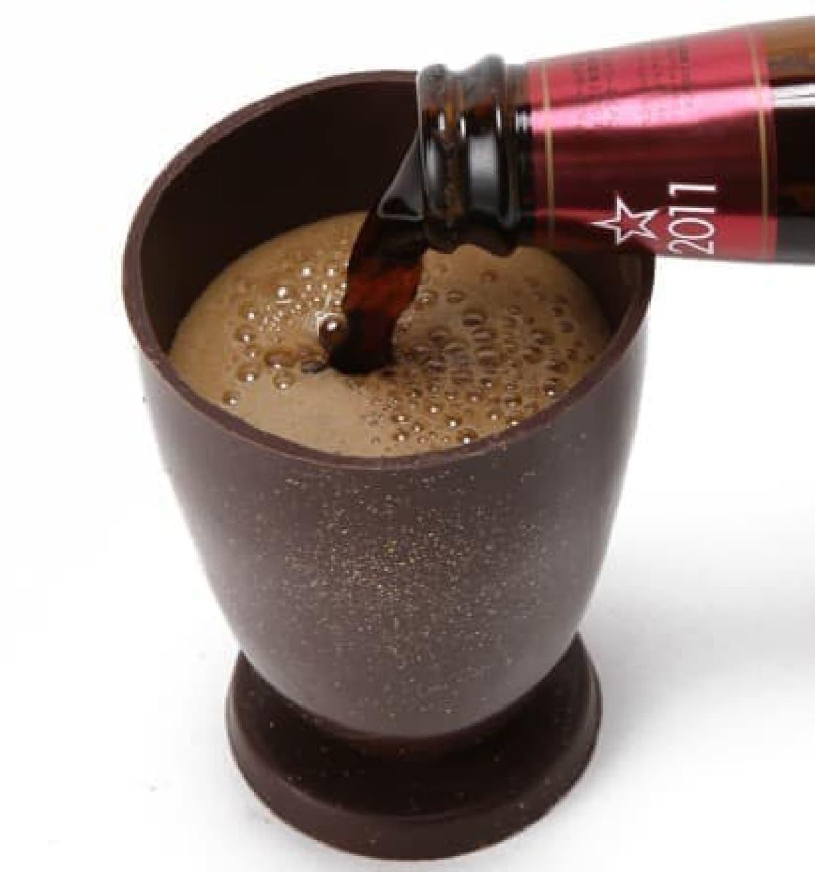 サンクトガーレン「インペリアルチョコレートスタウト」とチョコレート製グラスセット
