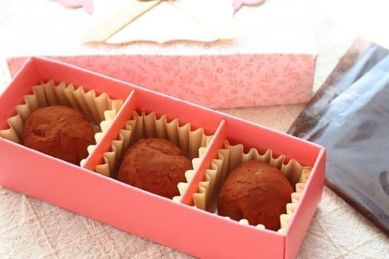 スライス生チョコレートで作ったトリュフ
