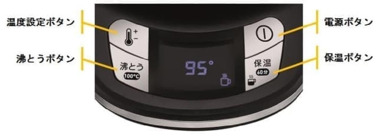 ティファール電気ケトル「アプレシア エージー・プラス コントロール 0.8L」