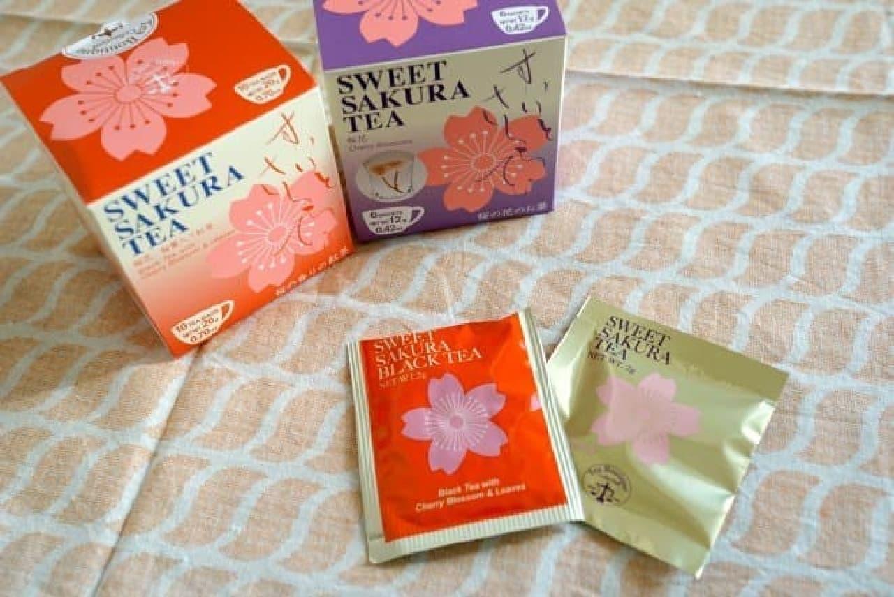 桜の花が咲く「スイートサクラティー」