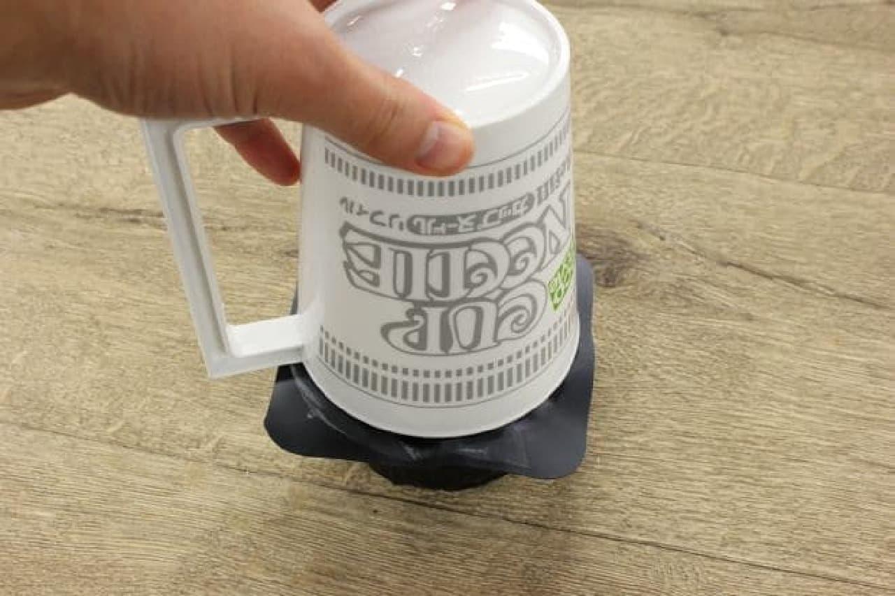 カップヌードル リフィル用フタ付きマグカップ」