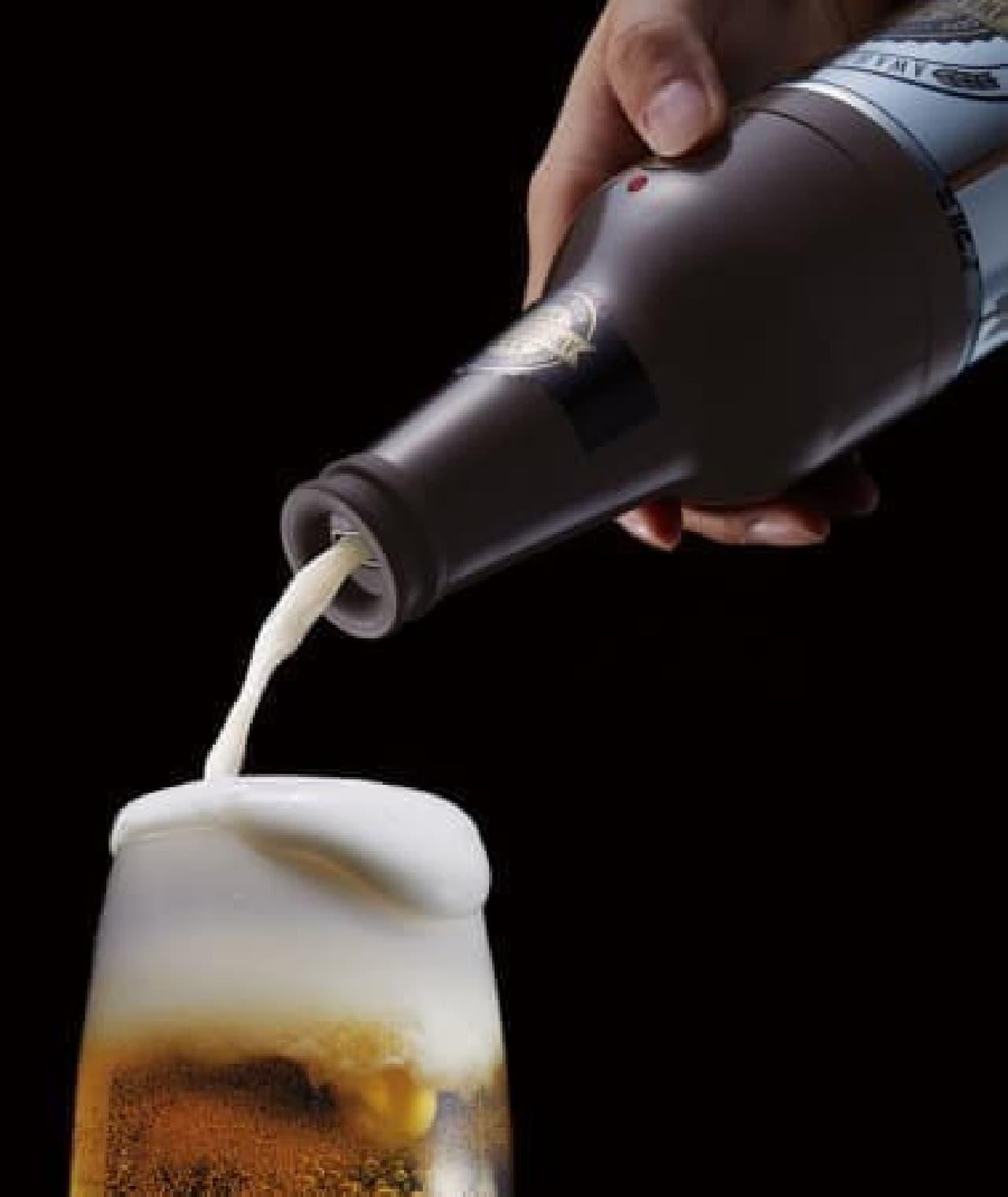 缶ビール用ビアサーバー「泡ひげビアー」
