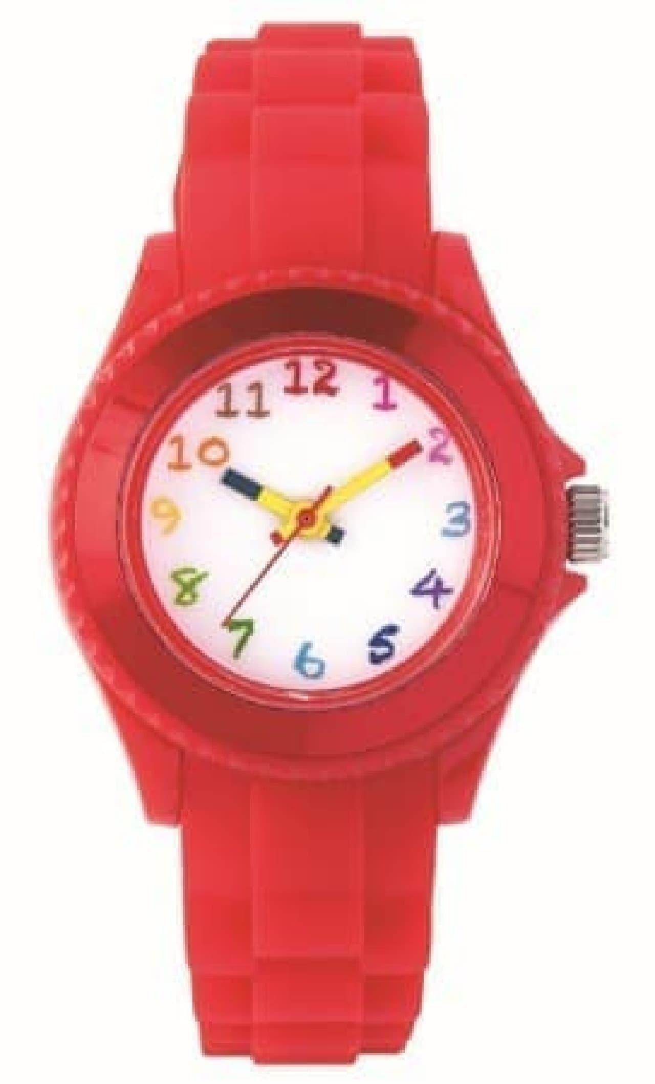 サクラクレパスとコラボした腕時計「クレパス柄トケイ」