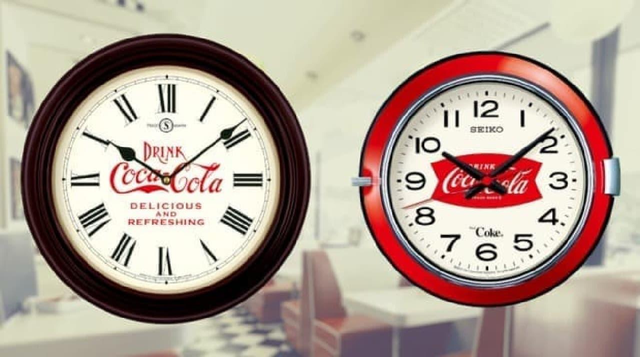 セイコー×コカ・コーラコラボ掛け時計