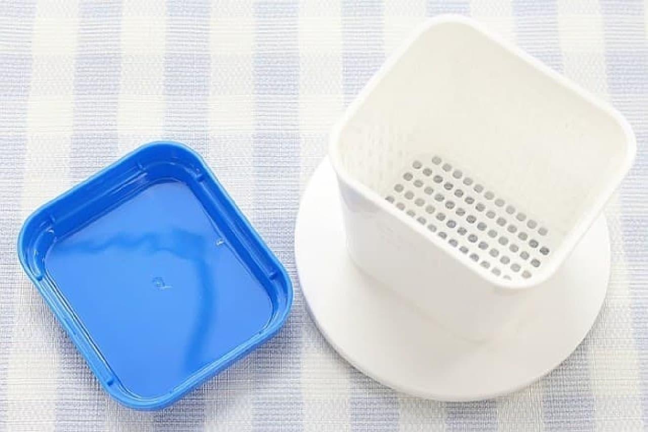 水切りヨーグルト用の容器「ヨードリップ」