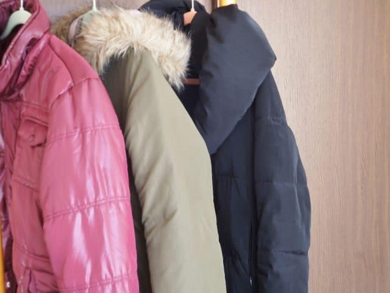 冬物のコートの画像