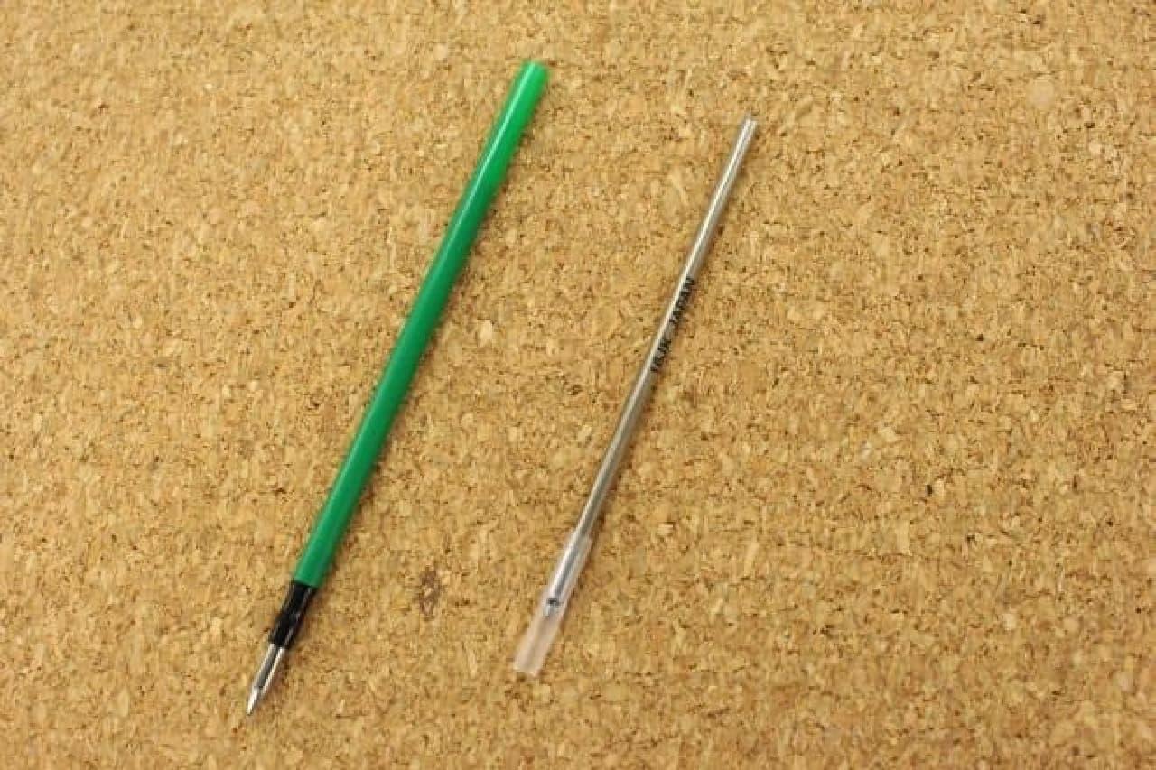 2社のボールペンの芯