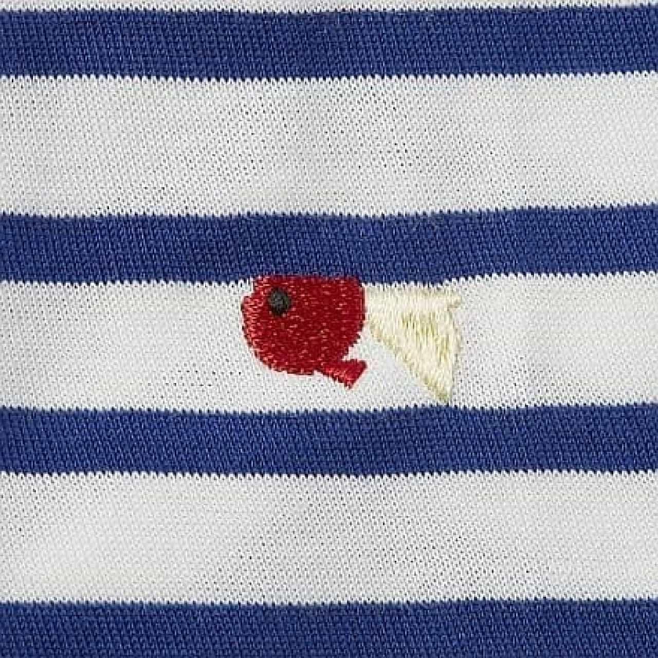 サクラクレパス「ワンポイント刺繍ボーダーカットソー」