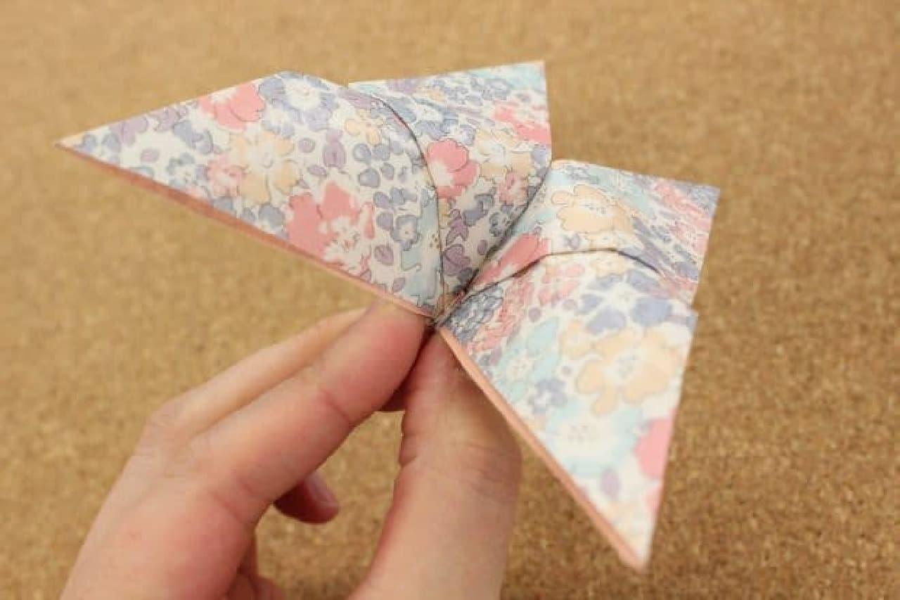 折り紙のちょうちょの折り方