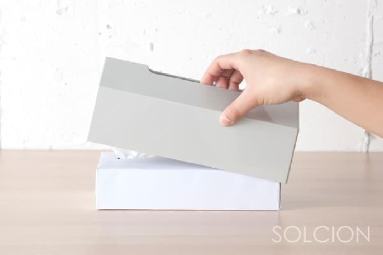 ホワイトボードみたいなティッシュケース「MEMORU(メモル)」