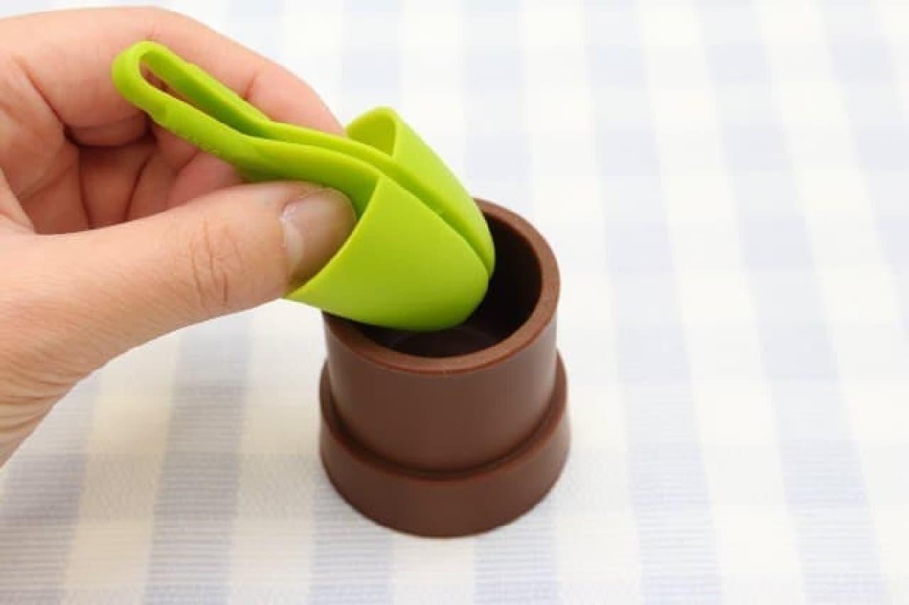 ポテトチップス用指サック「ポテ葉」