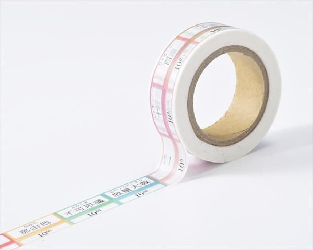 ヴィレッジヴァンガードのマスキングテープ