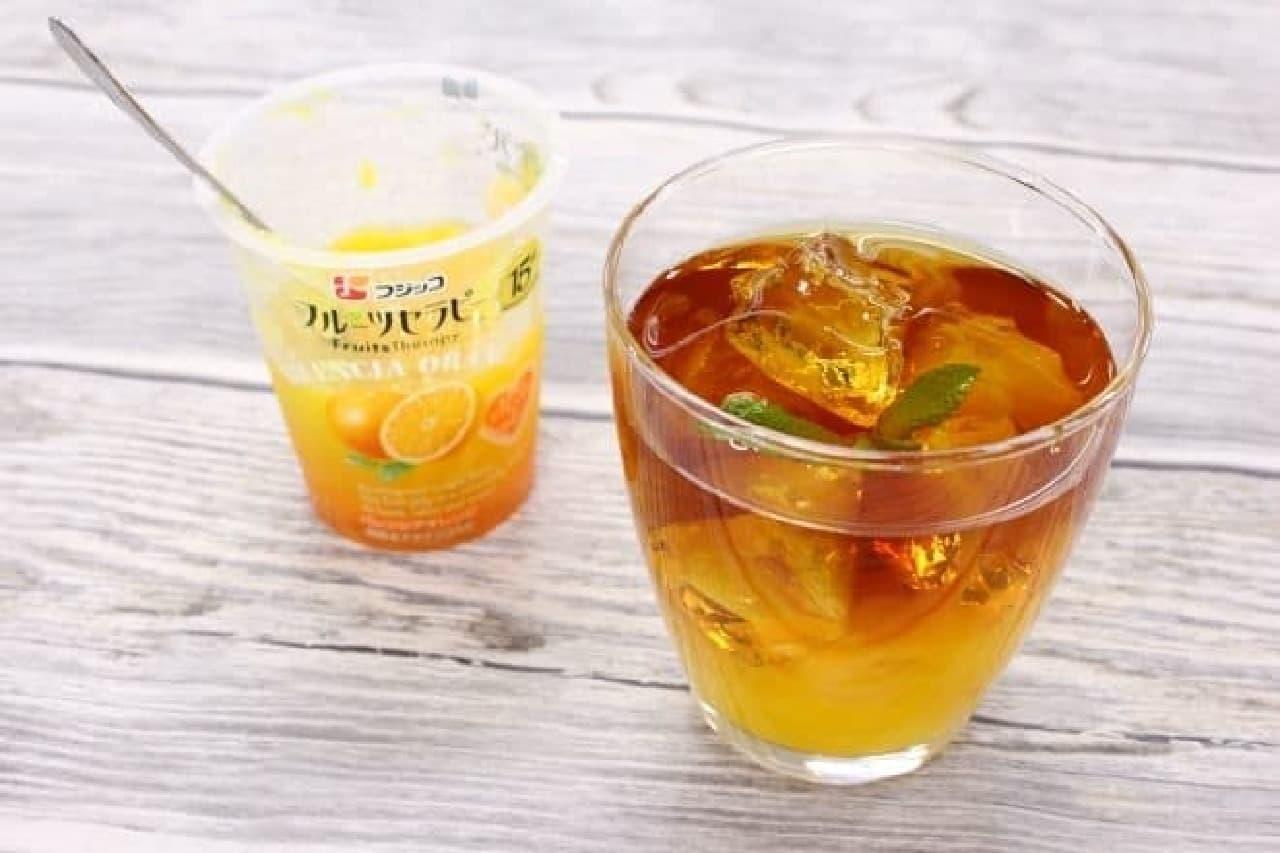 フジッコ「フルーツセラピー」のアレンジ