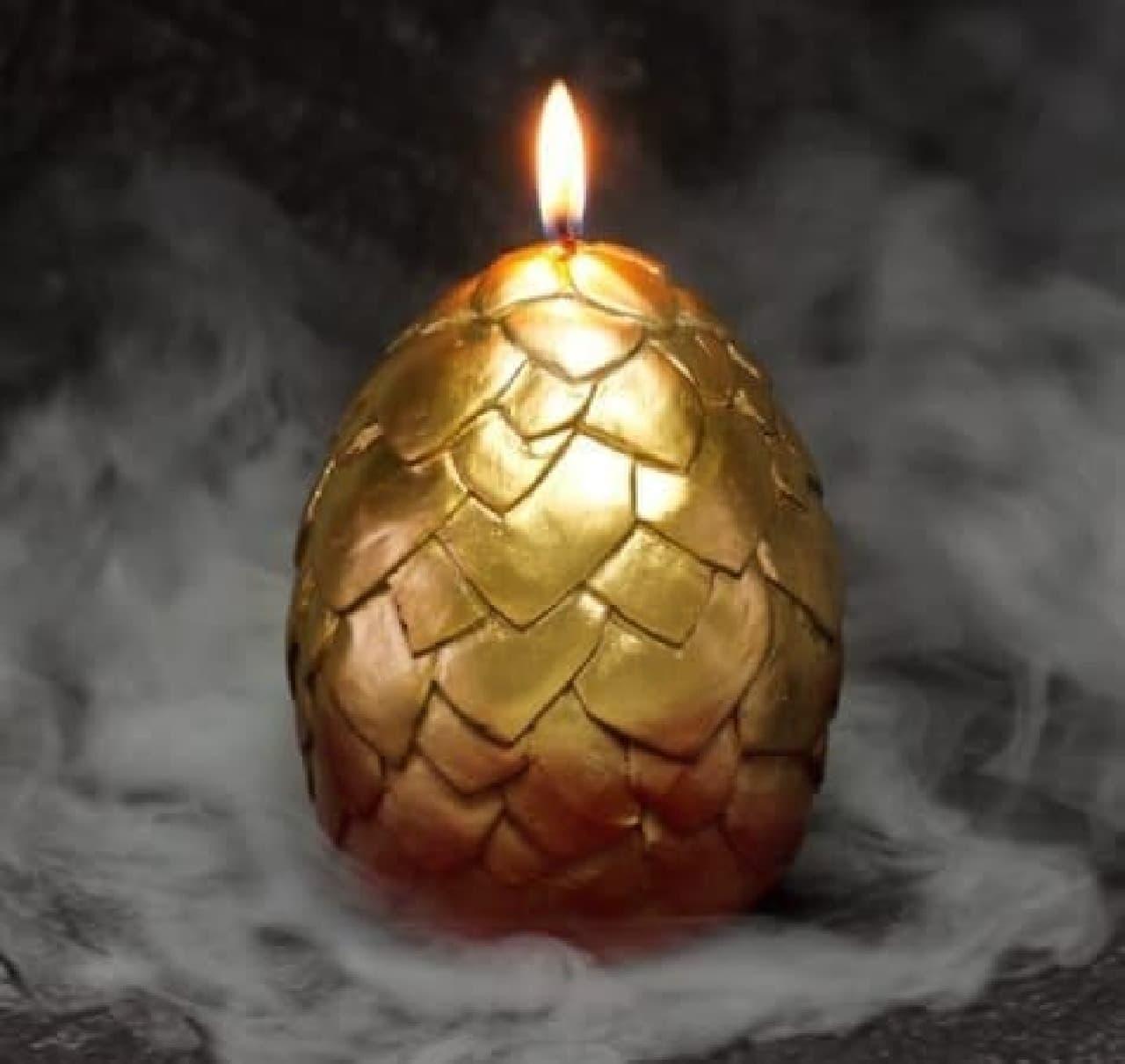 恐竜の卵キャンドル