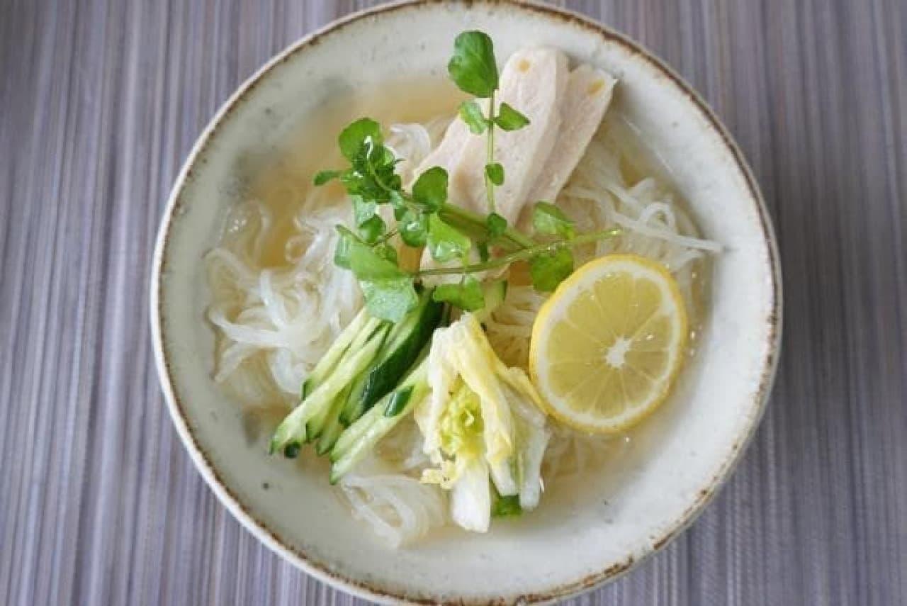 カルディのレモン冷麺