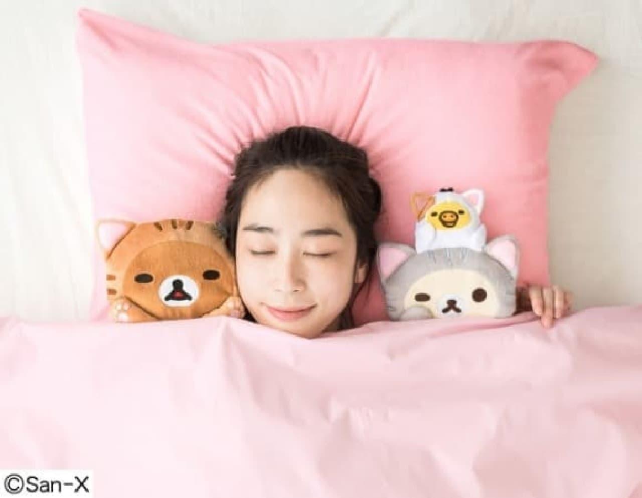 猫部meetsリラックマ 枕カバー付き 至福の添い寝ぬいぐるみセット