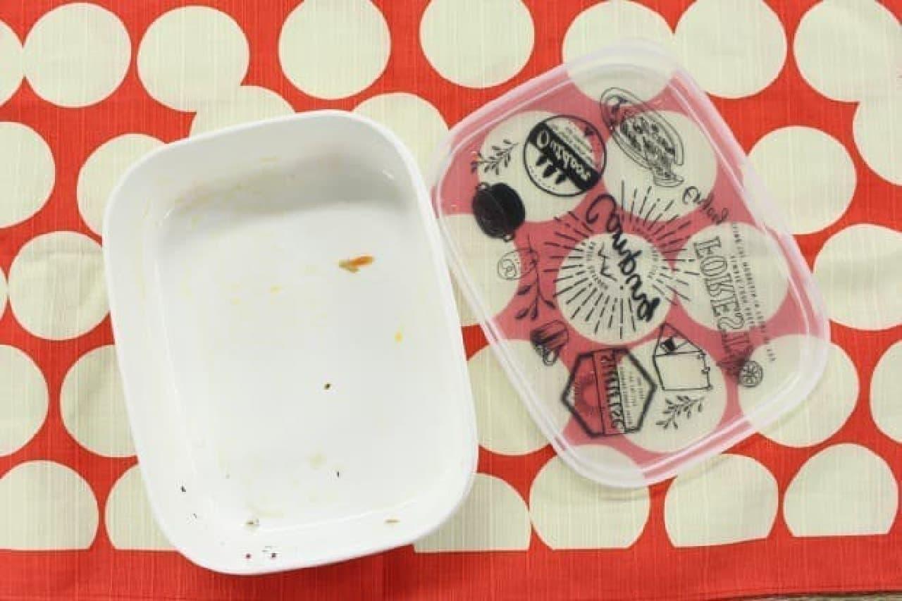 空のお弁当箱の画像
