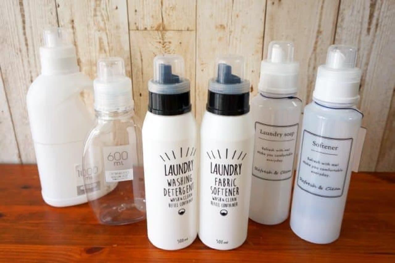 衣料用洗剤の詰め替えボトル