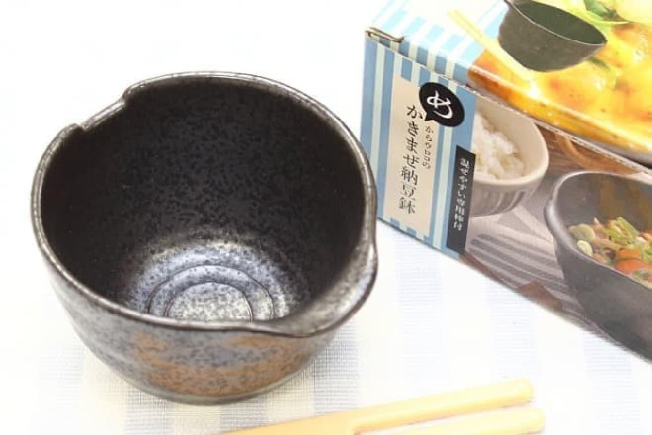 めからウロコのかきまぜ納豆鉢