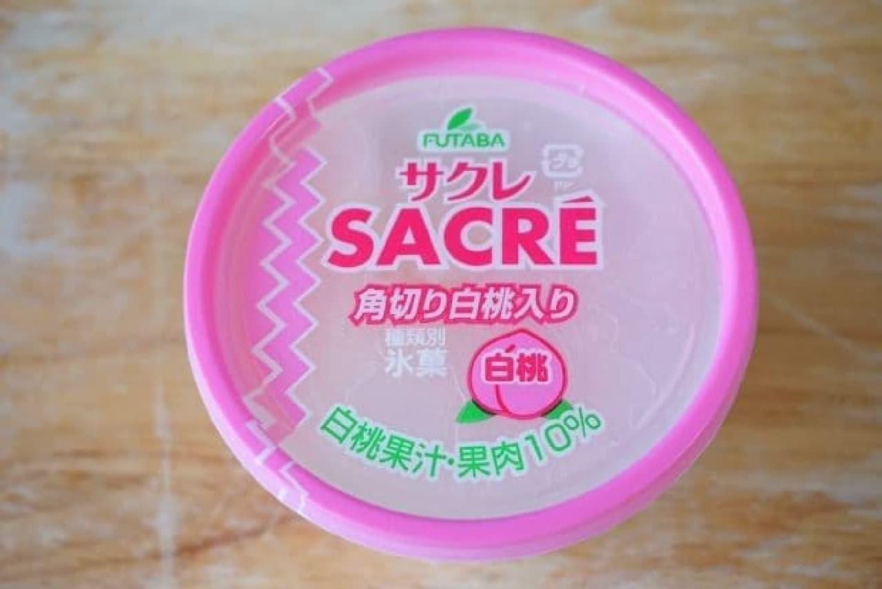 サクレの白桃味パッケージ