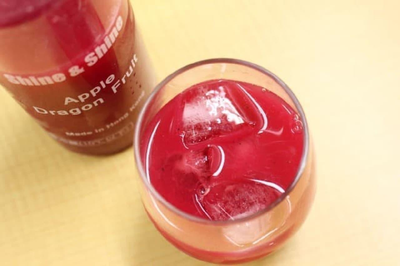 ファミリーマートのジュース「shine&shine」