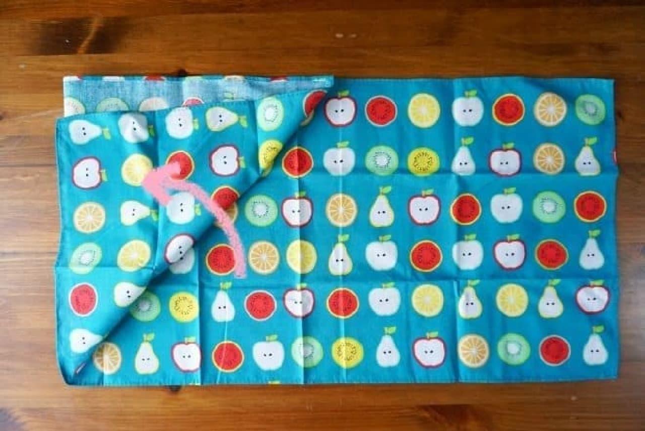 100均の手ぬぐいであずま袋の作り方