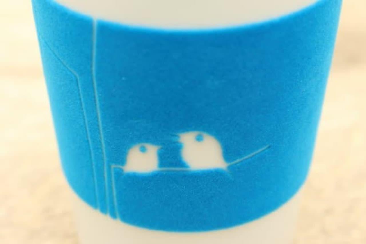 ベルベットが巻かれたドイツ製のカップ「タッチマグ」